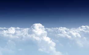 Picture clouds, height, stratosphere
