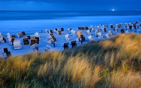 Picture beach, island, chair, Germany, Lower Saxony, East Frisian Islands, Wangerooge