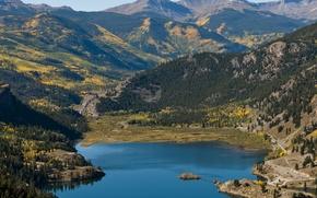 Picture forest, mountains, nature, lake, Colorado, Lake San Cristobal