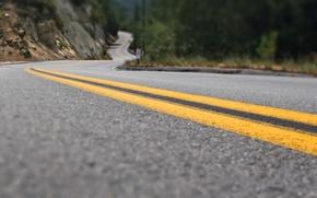 Wallpaper asphalt, line, Road