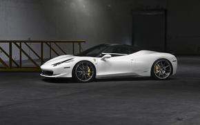 Picture white, Ferrari, supercar, white, supercar, Ferrari, 458, Italia