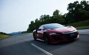 Picture road, car, auto, speed, Honda, Honda, speed, NSX