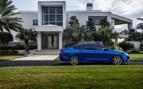 Picture Chrysler, House, Blue, Side, 200S, Chrysler 200S, Chrysler Cars