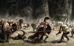 Picture weapons, war, art, battle, 300 spartans