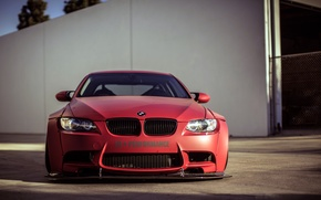 Picture BMW, red, wheels, tuning, front, E92