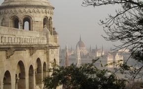 Picture panorama, architecture, panorama, architecture, Hungary, Budapest, Budapest, the Parliament building, Hungarian Parliament