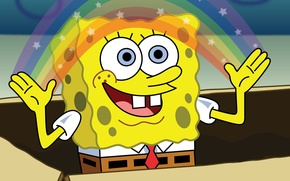 Picture rainbow, sponge, spongebob, the animated series