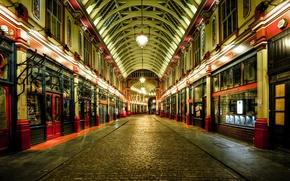 Picture street, lights, London, England, showcase, United Kingdom
