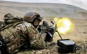 Picture Afghanistan, United States Spec Ops, M249 Squad Automatic Weapon
