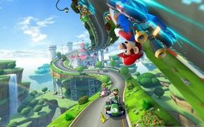 Picture mario, Mario Kart 8, 2013, game, Gaming