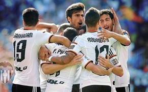 Picture wallpaper, sport, logo, football, players, Valencia CF