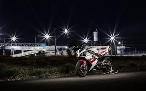 Picture white, yamaha, bike, yzf-1