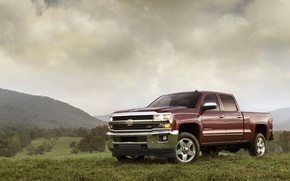 Picture landscape, Chevrolet, pickup, silverado