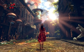 Picture blood, mushrooms, home, plants, quirkiness, Alice: Madness Returns