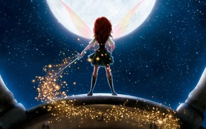 Picture stars, wings, The moon, fairy, Disney, sword, Disney, The Pirate Fairy