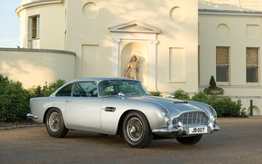 Picture grey, Aston Martin, classic, 1964, DB5, the James bond car