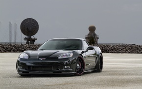 Picture corvette, black, chevrolet, z06