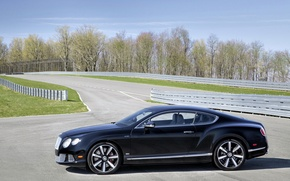 Picture car, auto, Bentley, side view, track, Continental GT Speed, The Le Mans Edition