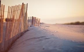 Picture sand, nature, the fence, dunes