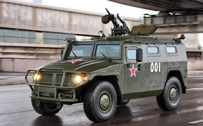Wallpaper GAZ-233014 Tiger, army option, armored car