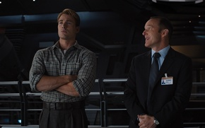 Picture team, agent, Marvel, Captain America, superheroes, Chris Evans, The Avengers, The Avengers, S. H. I. ...