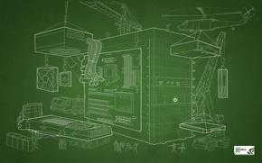 Wallpaper GTX, GeForce, NVIDIA, DIY Blueprint Wallpaper