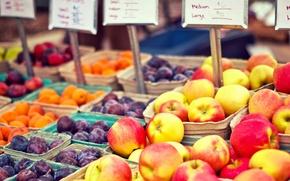 Wallpaper peach, prices, fruit, drain