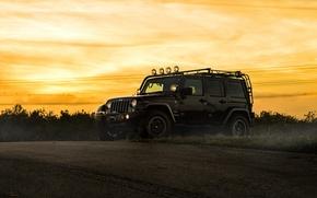 Picture car, jeep, SUV, black, jeep wrangler, sahara