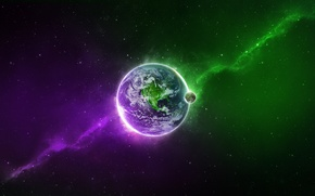 Picture earth, color, Planet