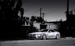 Picture Mercedes-Benz, Mercedes, SL-class, silvery, SL 550