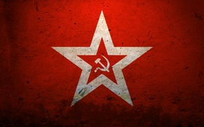 Picture red, star, USSR, the hammer and sickle
