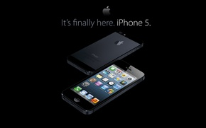 Picture iPhone, apple, smartphone, iPhone 5