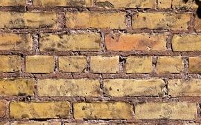 Picture wall, brick, masonry