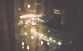 Picture glass, drops, rain, window