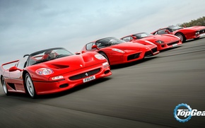 Picture Top Gear, Ferrari, Red, F40, Enzo, Speed, Front, Supercars, Track, Italian, F50, Asphalt, 288 GTO