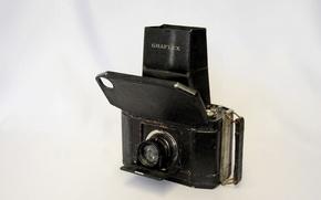 Picture background, the camera, lens, case, rarity, Graflex Series II