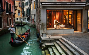 Picture city, dress, Italy, style, photo, photographer, bricks, walls, man, houses, Venice, buildings, Italia, Venice, elegance, …