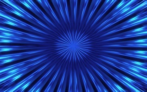 Picture rays, line, blue