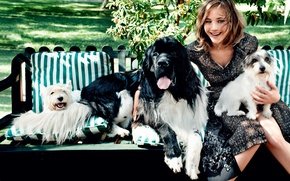 Picture laughter, dogs, Jennifer Lawrence, Vogue