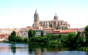 Picture landscape, city, the city, castle, Spain, landscape, Spain, castle, Spain, Salamanca, Salamanca