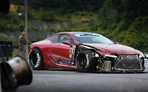 Picture Lexus, Red, Car, Tuning, Future, Low, by Khyzyl Saleem, LC 500