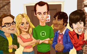 Picture drawings, the big Bang theory, colorful, big bang theory