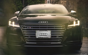 Picture car, black, evog, audi tts