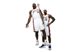 Picture White, Basketball, Background, NBA, LeBron James, Cleveland Cavalier, Shaquille O'neal