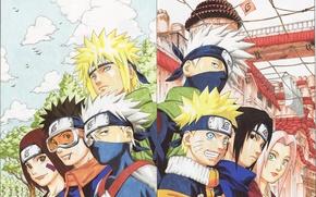 Wallpaper naruto, Anime, rin, obito, minato, kakashi, sakura, sasuke