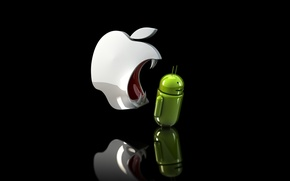 Picture apple, fangs, android, ios, evil Apple