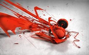 Wallpaper vector, headphones, texture, model
