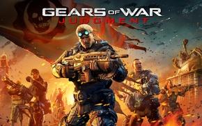 Picture fiction, war, saw, machine gun, gears of war, gow, gears of war judgment