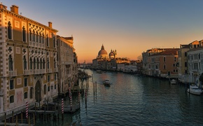 Picture home, the evening, Italy, Venice, Cathedral, channel, Santa Maria della Salute