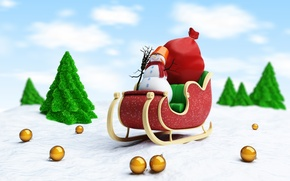 Picture snow, new year, broom, new year, sleigh, Santa Claus, snow, merry christmas, broom, merry Christmas, …